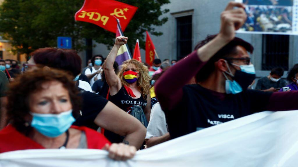 SPAIN-ROYALS-PROTESTS