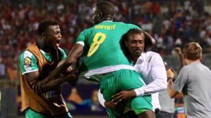 من مباراة  السينغال ضد تونس في نصف نهائي كأسس الامم اللإفريقية