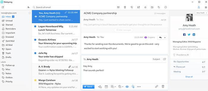 برنامج  مجاني  لإدارة البريد إلكتروني يتوفر لمختلف أنظمة التشغيل ويندوز، أبل ولينوكس.يقترح نسخة مجانية ونسخة مدفوعة من البرنامج