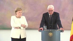 أثناء تعرض المستشارة الألمانية لنوبة ارتجاف ثانية