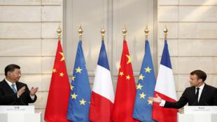 رئيسا فرنسا والصين