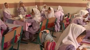 داخل قسم للبنات في مدرسة ايرانية