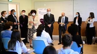 education_minister_frederique_vidal_pm_castex_visite_ecole