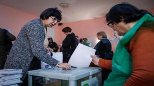 انطلاق التصويت في انتخابات جورجيا