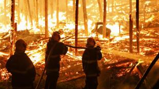 حريق في غابات الأمازون ( 18-12-2018)