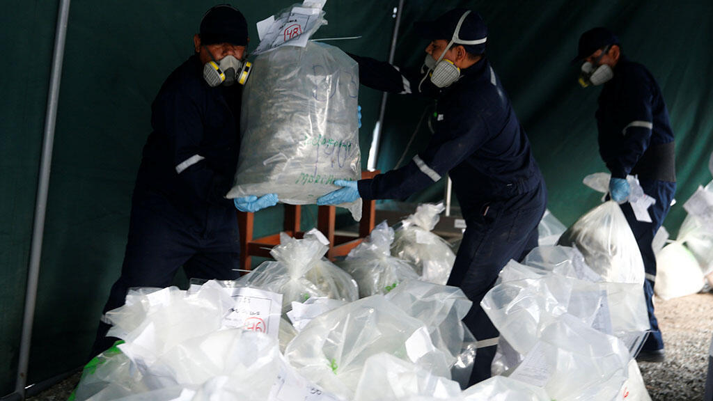 اتلاف كميات مصادرة  من الكوكايين المحجوزة