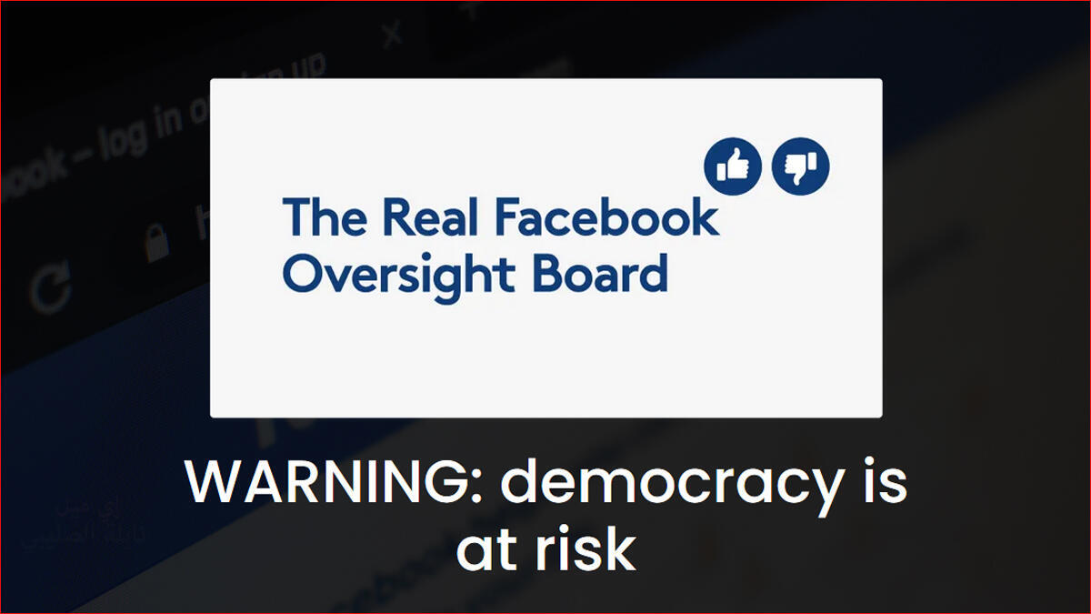 The Real Facebook Oversight Board