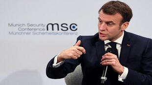 الرئيس الفرنسي ايمانويل ماكرون في مؤتمر ميونخ-