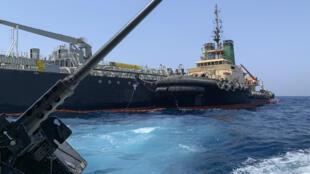 ناقلة النفط اليابانية كوكوكا شجاع قبالة ميناء الفجيرة في 19 يونيو 2019
