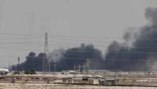 القصف على منشأة نفط لشركة أرامكو في عبيق