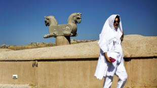 في مدينة تخت جمشيد أو برسبوليس الأثرية في إيران