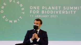 """الرئيس الفرنسي إيمانويل ماكرون يطلق يوم 11 يناير 2021 قمة """"وان بلانيت"""" (كوكب واحد) المخصصة للتنوع الحيوي"""