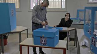 الانتخابات الإسرائيلية في تل أبيب (23 مارس 2021)
