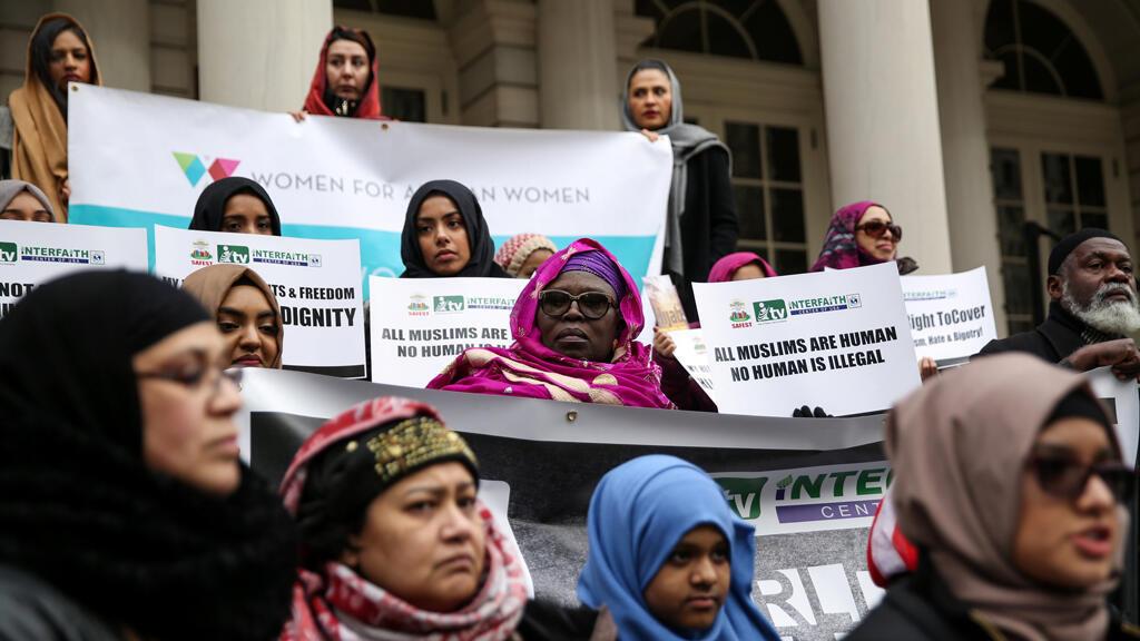 تظاهرة مسلمات متحجات في نيويورك