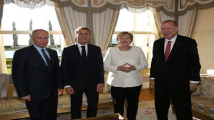 قادة الدول الأربعة في قمة حول سوريا