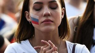 مشجعة روسية