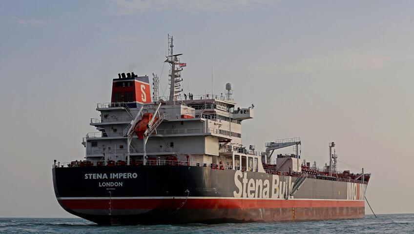 """ناقلة النفط البريطانية المحتجزة """"ستينا إمبيرو"""""""