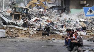الدمار في قطاع غزة الفلسطيني