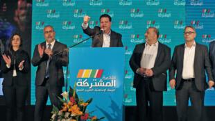 """أيمن عودة وأعضاء في القائمة """"المشتركة"""" في مدينة شفا عمرو الإسرائيلية"""