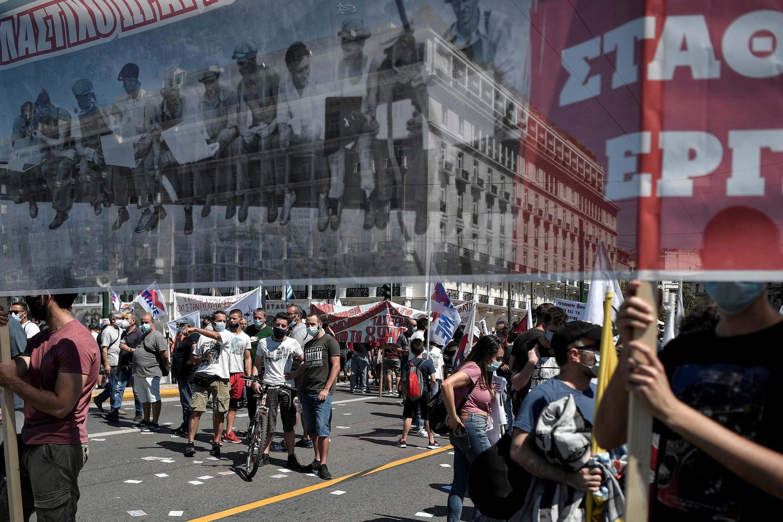 اضرابات وتظاهرات احتجاجاً على تعديل قانون العمل في اليونان، يوم الأربعاء 16 يونيو 2021