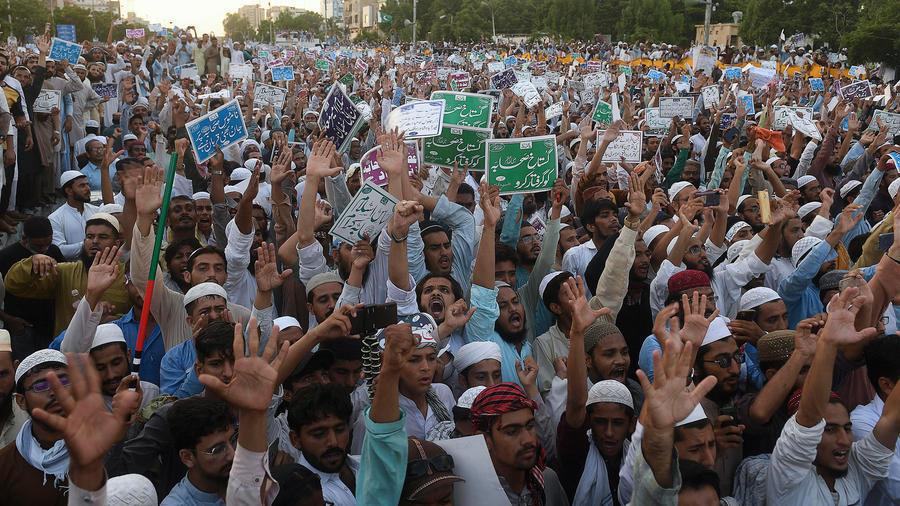 anti shia demonstrations