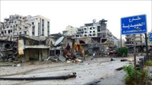 في ساحة مدينة حمص القديمة 8 أيار/مايو 2014