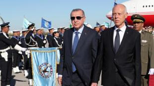 قيس سعيد ورجب الطيب أردوغان
