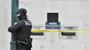 في مكان تنفيذ الهجوم في فانكوفر بكندا