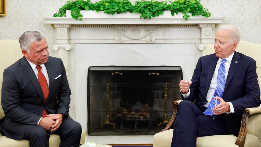 جو بايدن والملك عبد الله في واشنطن