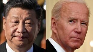 الرئيس الأمريكي جو بايدن ونظيره الصيني شي جين بينغ