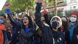 manifestants tunis 19 01 2021