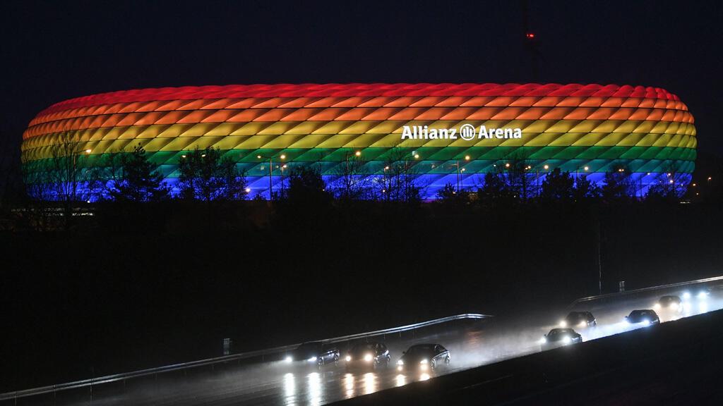 """ملعب """"أليانز أرينا"""" في ميونخ بألمانيا"""