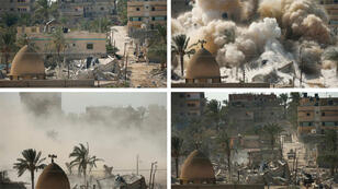 تهديم منزل في رفح في إطار إقامة منطقة عازلة من قبل الجيش المصري(29 أكتوبر)