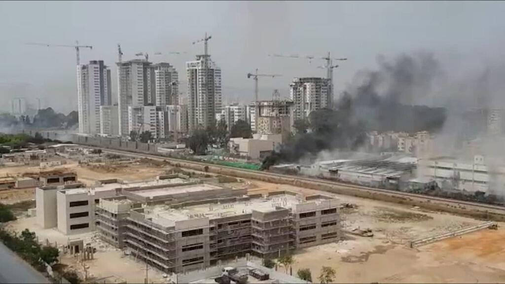 حريق ضخم في حيفا
