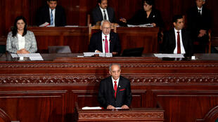 رئيس الحكومة التونسي الحبيب الجملي في مجلس النواب