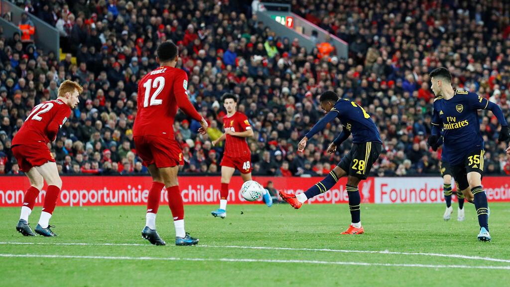 مشهد من مباراة ليفربول وأرسنال يوم 30 أكتوبر 2019
