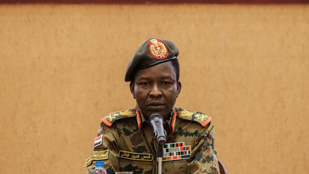 الفريق ركن شمس الدين كباشي المتحدث باسم المجلس العسكري السوداني