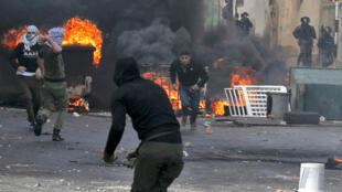 اشتباكات بين متظاهرين فلسطينيين وقوات الأمن الإسرائيلية، جنين