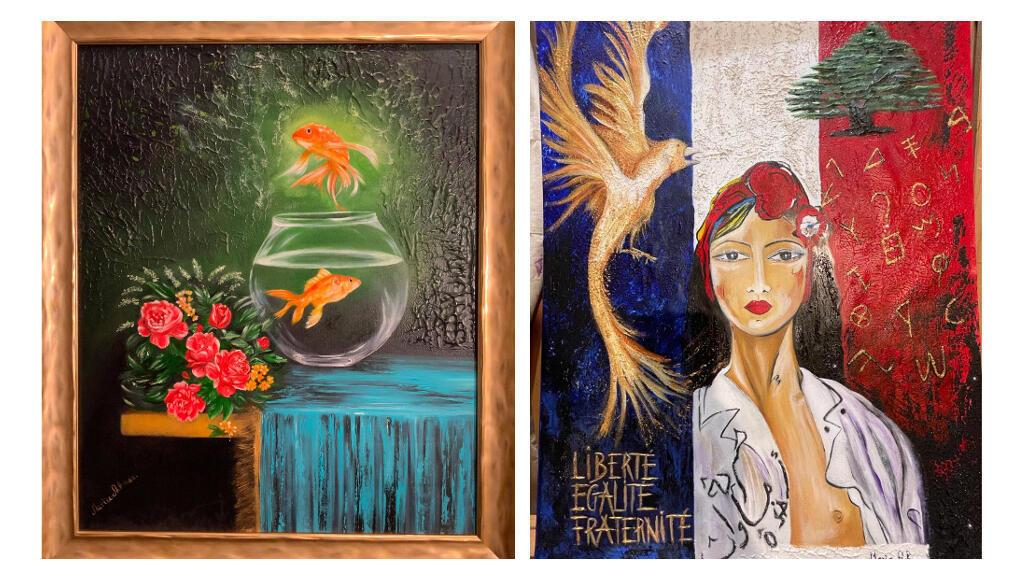لوحات الفنانة مارية الأشمر