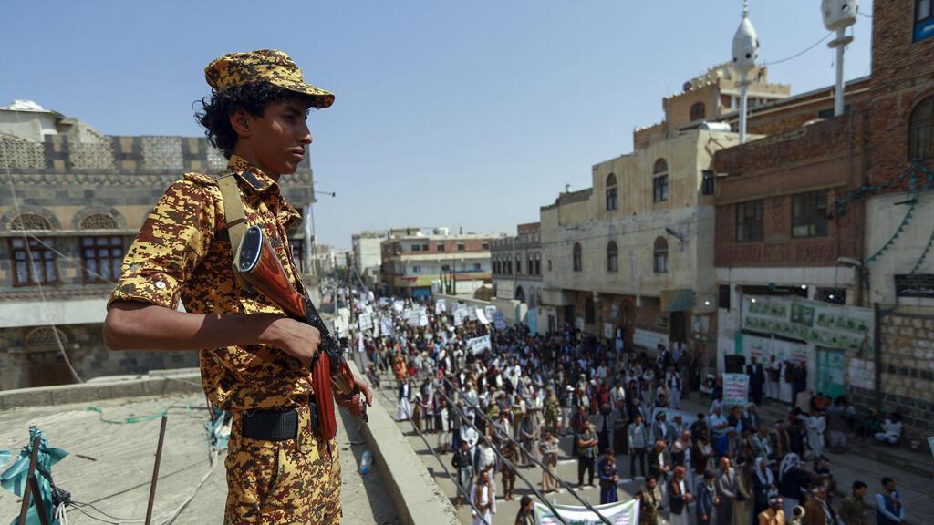 مقاتل حوثي في العاصمة اليمنية صنعاء
