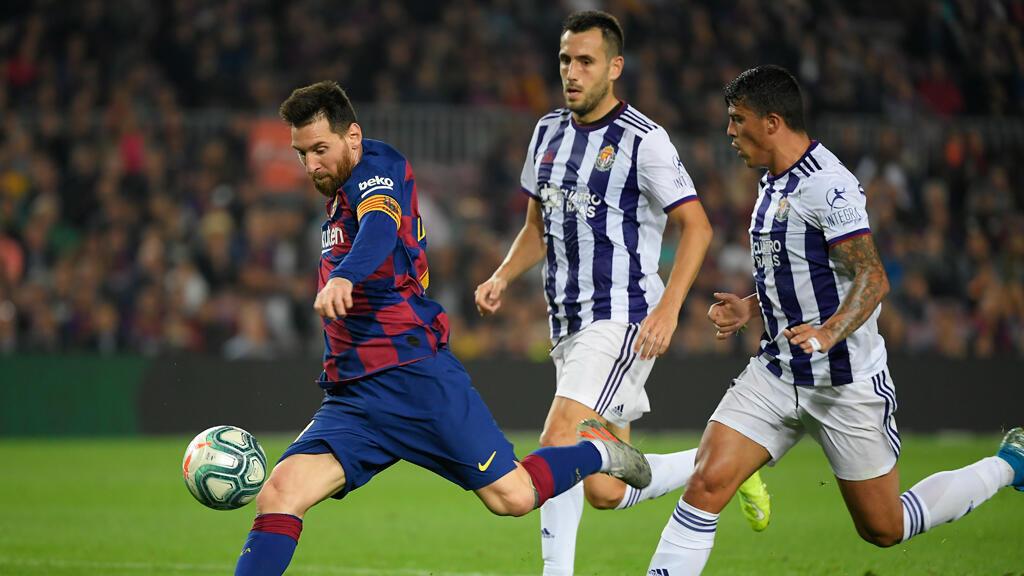 ميسي خلال مباراة برشلونة ضد بلد الوليد يوم 29 أكتوبر 2019