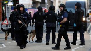 الشرطة البريطانية بعد عملية الطعن بسكين يوم 29 نوفمبر 2019