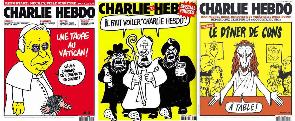 """""""عشاء حمقى"""" - """"يجب تغطية شارلي إيبدو"""" - """"جاسوس في الفاتيكان"""""""