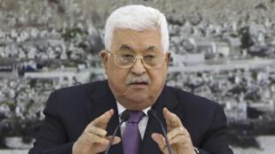 محمود عباس رئيس السلطة الفلسطينة