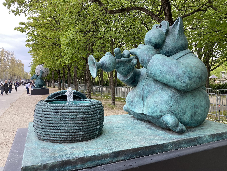 معرض القط في باريس للفنان فيليب جيلوك