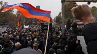 المظاهرات في أرمينيا