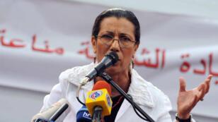 الأمينة العامة لحزب العمال الجزائري لويزة حنون ( أ ف ب)