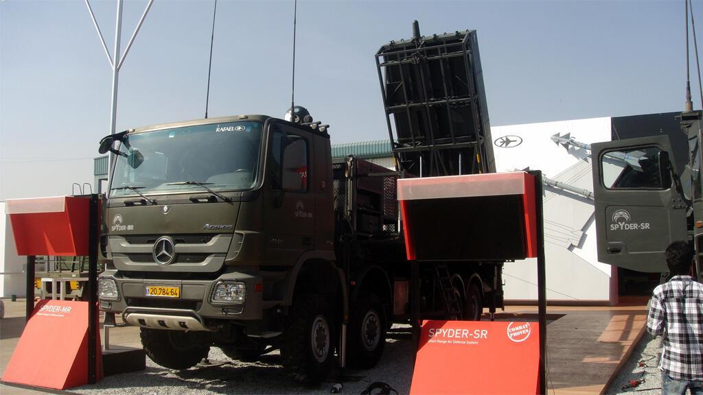بطارية دفاع جوي إسرائيلية من طراز سبايدر