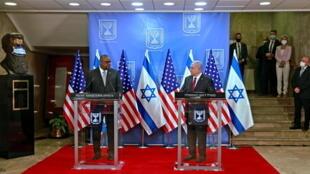 2021-04-12T131103Z_375977793_RC2DUM9SBMS6_RTRMADP_3_ISRAEL-USA-NETANYAHU-AUSTIN