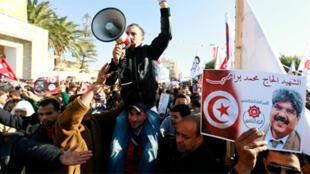 تظاهرة في منطقة سيدي بوزيد
